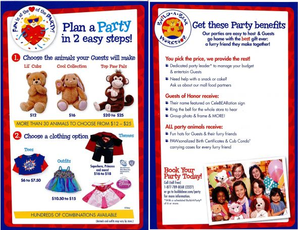 Build A Bear plan a party