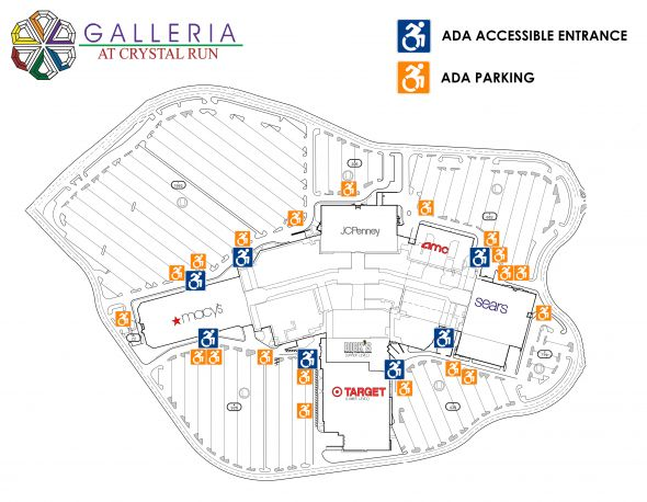 Galleria Crystal Run ADA Maps