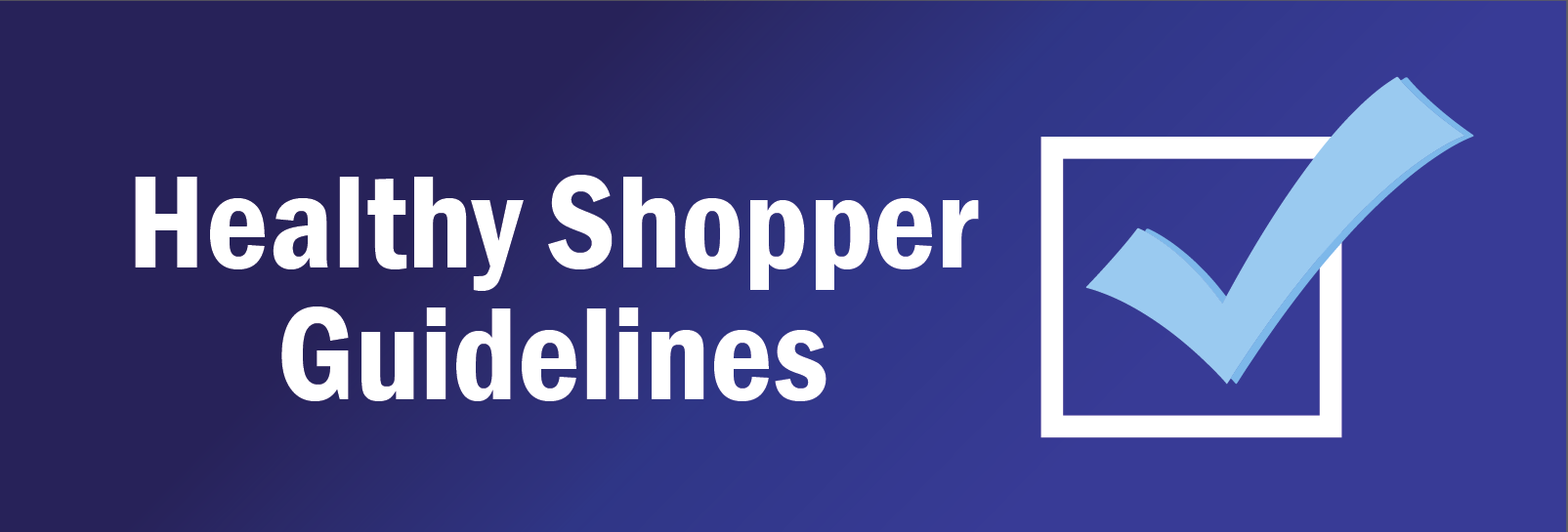 Healthy Shopper Slider