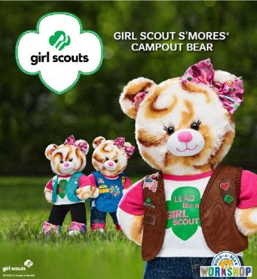 Smores Stuffed Animal, Build A Bear Workshop Girl Scout S Mores Campout Teddy Bear Stuffed Animals Toys Toys Games