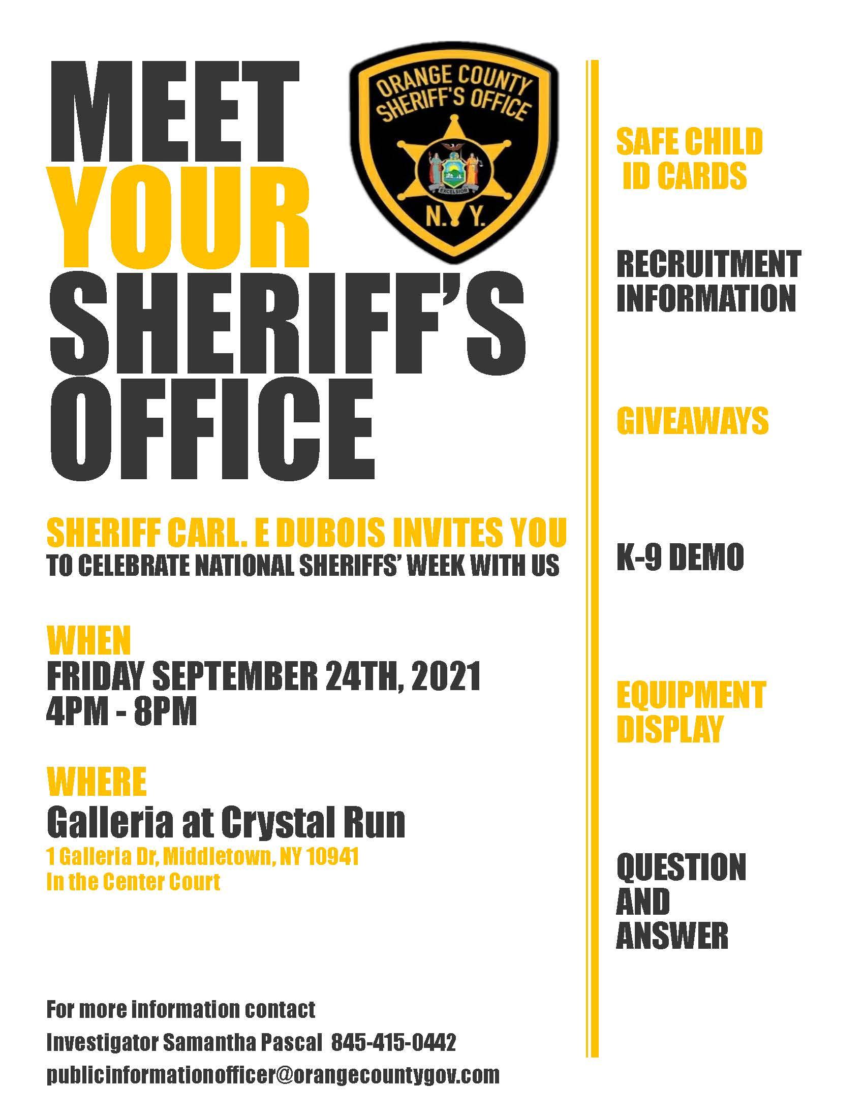 Meet Your Sheriffs Office Flyer PDF